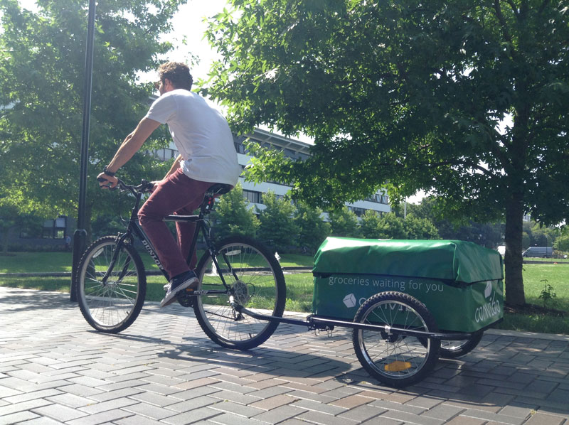 Delivery by bike